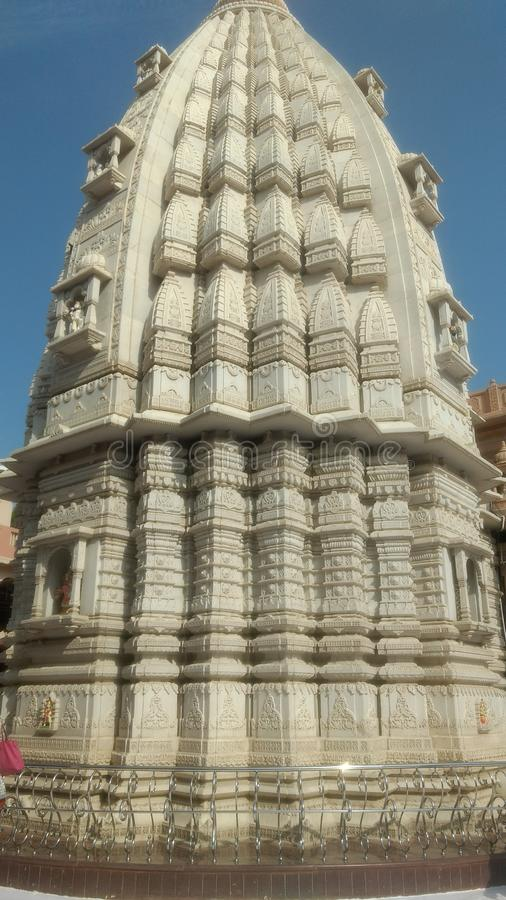 Tempio indù Maharaj gajanan di Shegao fotografie stock