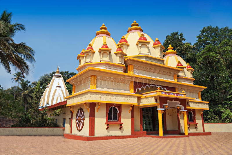 Tempio indù in Ponda fotografie stock libere da diritti