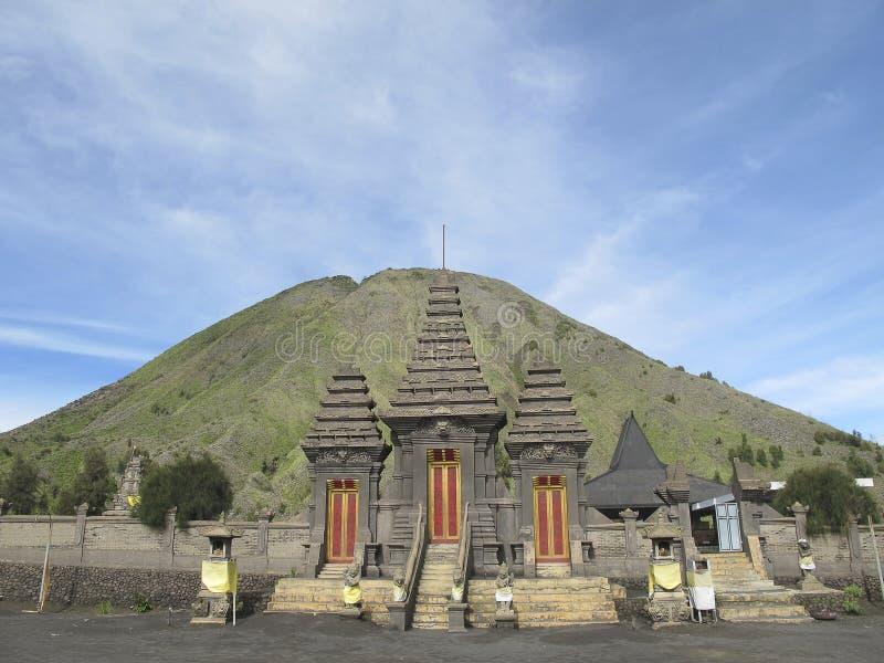 Tempio indù Pura Luhur Poten, supporto Bromo, isola di Java, Indonesia immagine stock libera da diritti