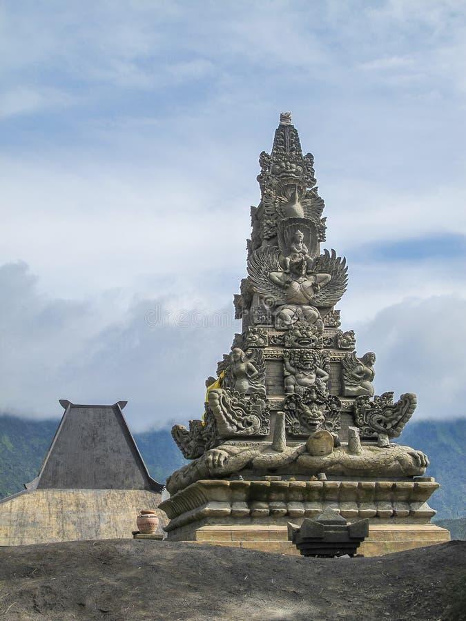 Tempio indù Pura Luhur Poten, supporto Bromo, Java, Indonesia fotografia stock
