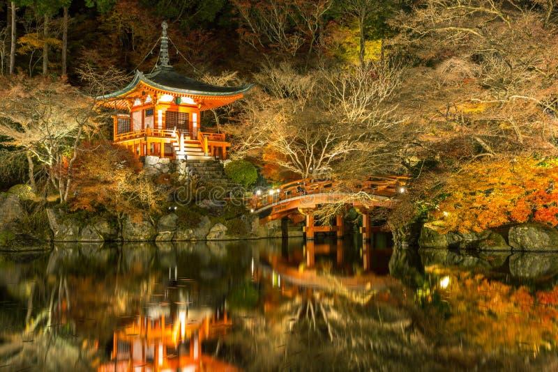 Tempio Kyoto Giappone di Daigoji immagine stock