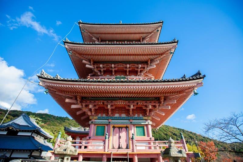 Tempio Kyoto Giappone di Kiyomizu immagini stock libere da diritti