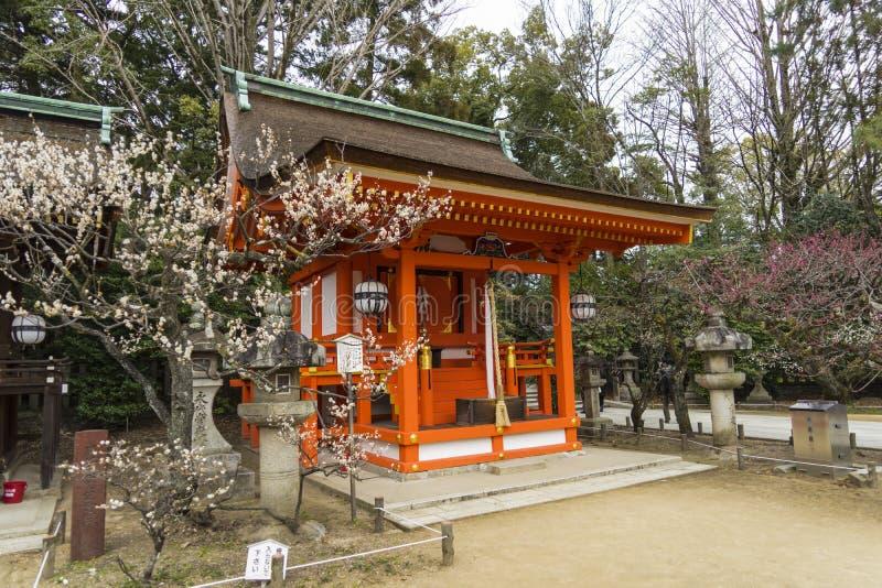 Tempio Kyoto Giappone di tenmangu di Kitano fotografia stock
