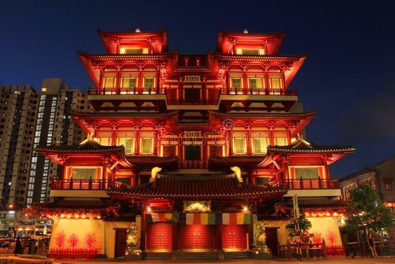 Tempio magnifico della reliquia del dente di Buddha fotografia stock libera da diritti