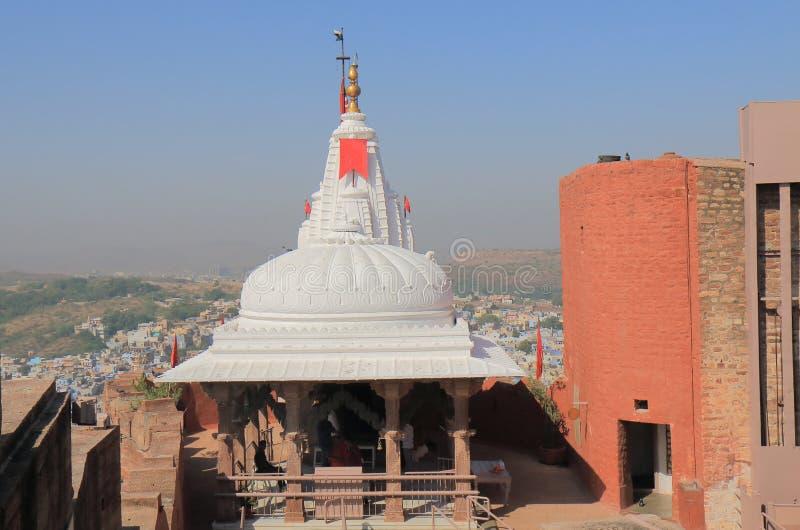 Tempio Mehrangarh Jodhpur forte India di Maa Chamunda fotografie stock libere da diritti