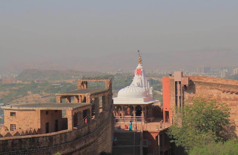 Tempio Mehrangarh Jodhpur forte India di Maa Chamunda fotografia stock