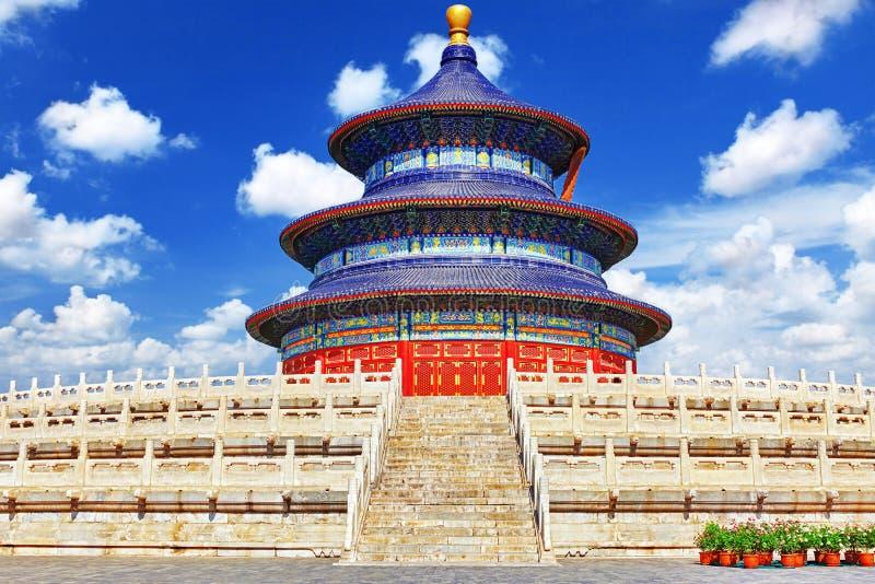 Tempio meraviglioso e stupefacente - il tempio del cielo a Pechino immagine stock libera da diritti