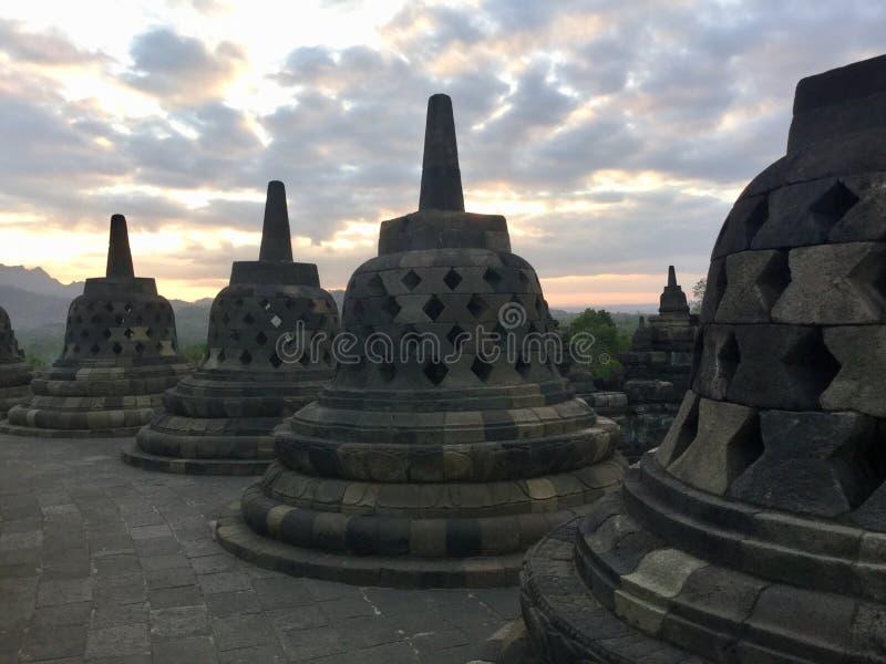 Tempio monumentale di Borobudur Vicino a Yogyakarta su Java Island, l'Indonesia immagini stock