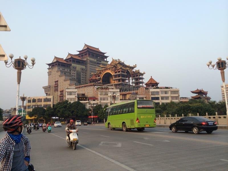 Tempio nella città della Cina di YuLin immagine stock