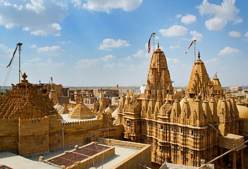 Tempio nella fortificazione di Jaisalmer, Ragiastan, India immagini stock libere da diritti