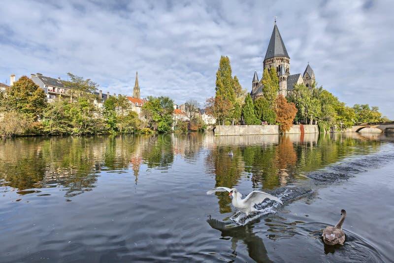 Tempio Neuf de Metz, Metz, Lorena, Francia immagini stock libere da diritti