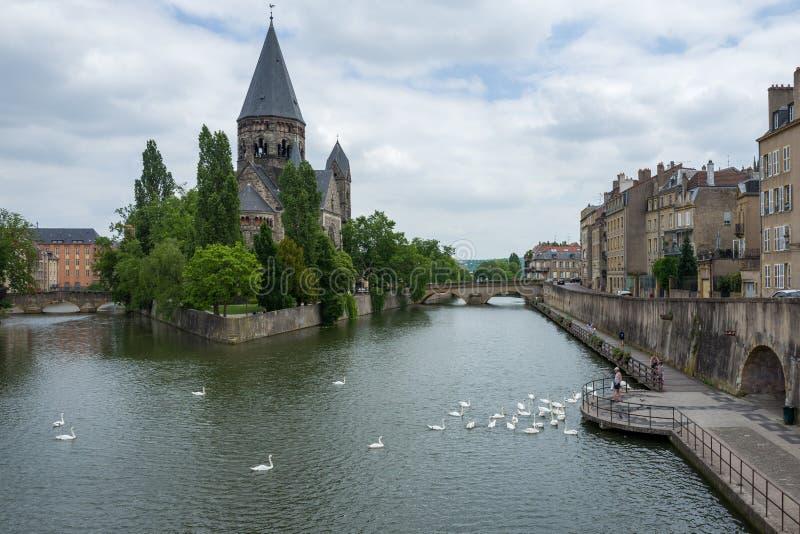 Tempio Neuf a Metz fotografia stock