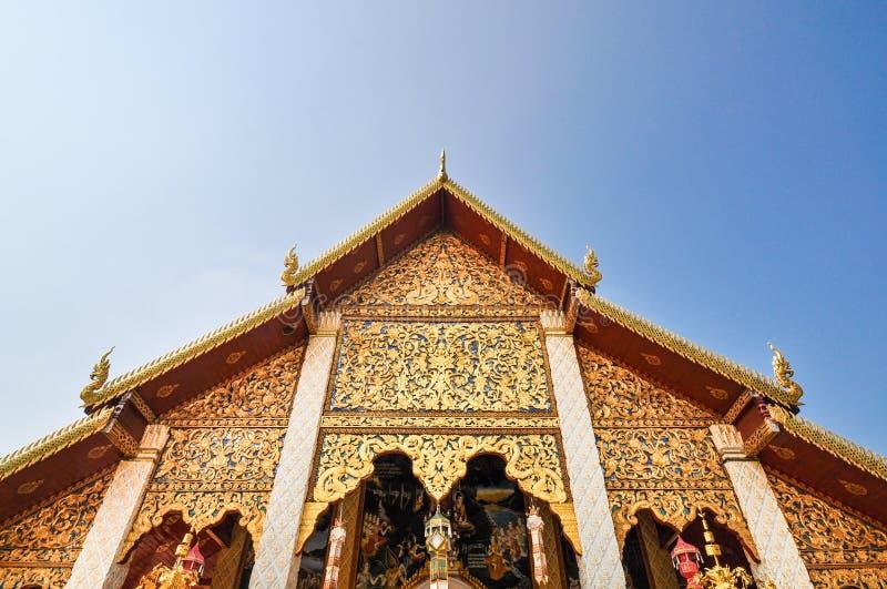 Tempio nordico antico della Tailandia immagini stock