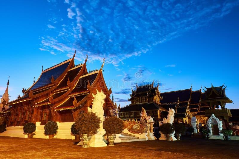 Tempio o Wat Den Salee Sri Muangkaen della tana di Wat Ban in Chiang Mai fotografia stock libera da diritti
