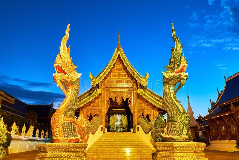 Tempio o Wat Den Salee Sri Muangkaen della tana di Wat Ban in Chiang Mai immagini stock