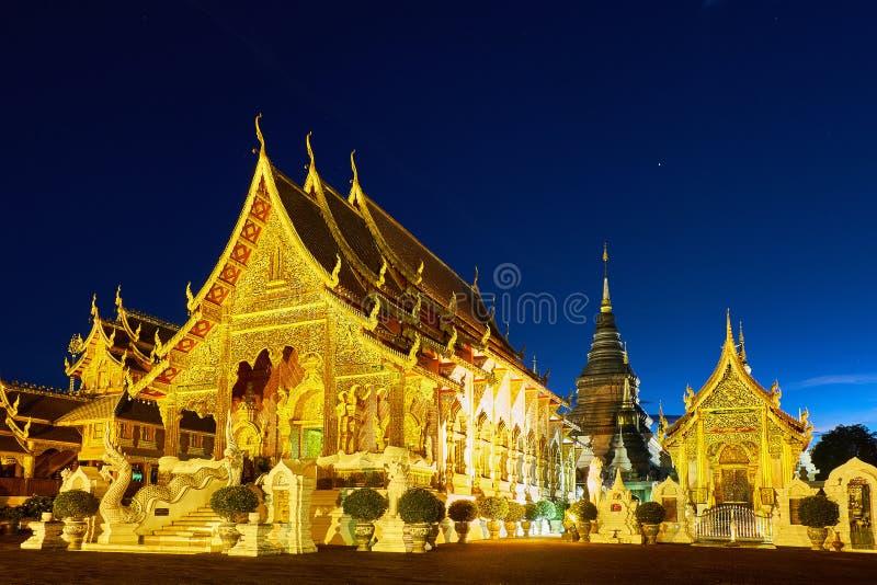 Tempio o Wat Den Salee Sri Muangkaen della tana di Wat Ban in Chiang Mai immagini stock libere da diritti