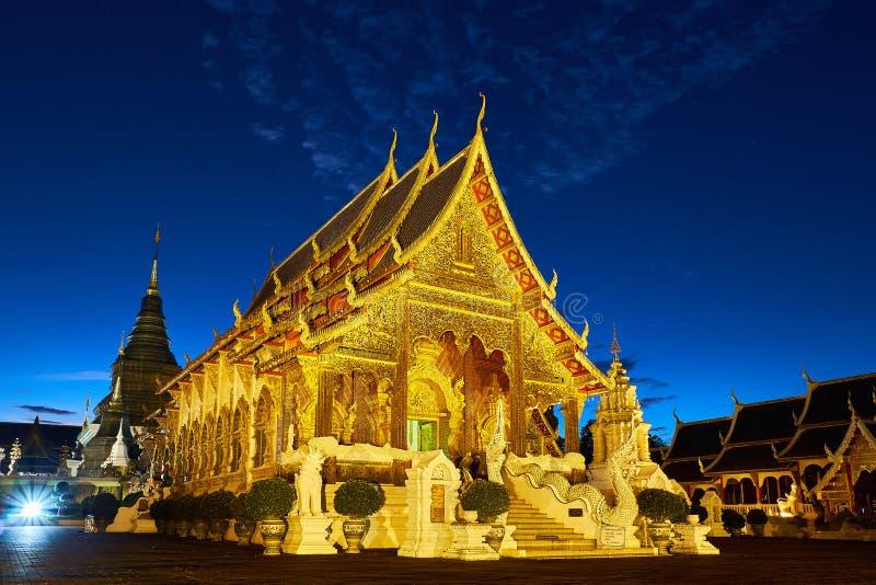 Tempio o Wat Den Salee Sri Muangkaen della tana di Wat Ban in Chiang Mai immagine stock