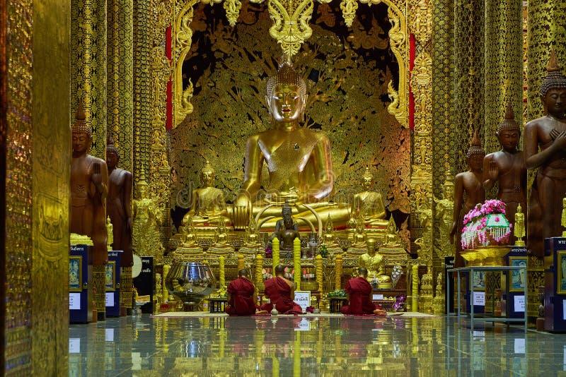 Tempio o Wat Den Salee Sri Muangkaen della tana di Wat Ban in Chiang Mai fotografia stock