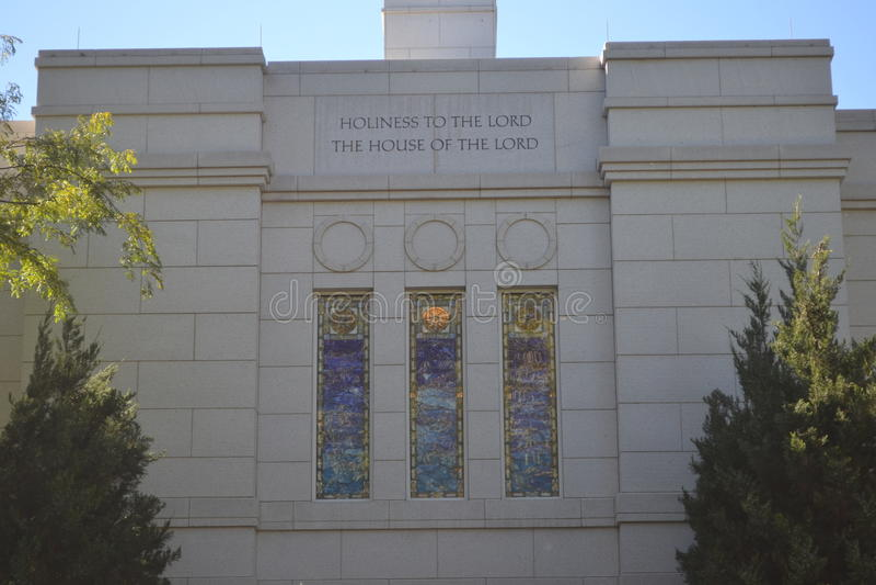 Tempio Omaha Nebraska dei trimestri invernali fotografia stock
