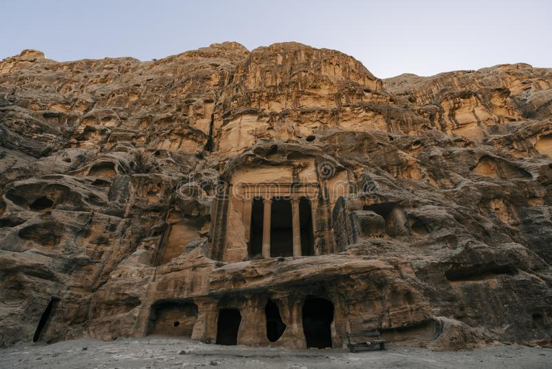 Tempio in poco PETRA, Giordania fotografie stock