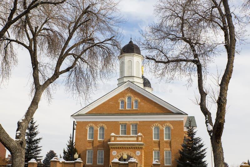 Tempio primaverile dell'Utah fotografia stock libera da diritti