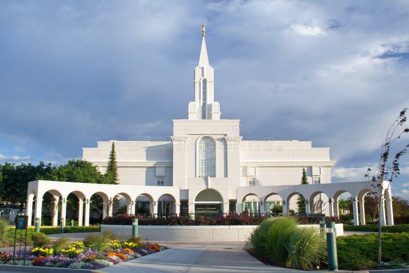 Tempio ricco dell'Utah LDS fotografie stock