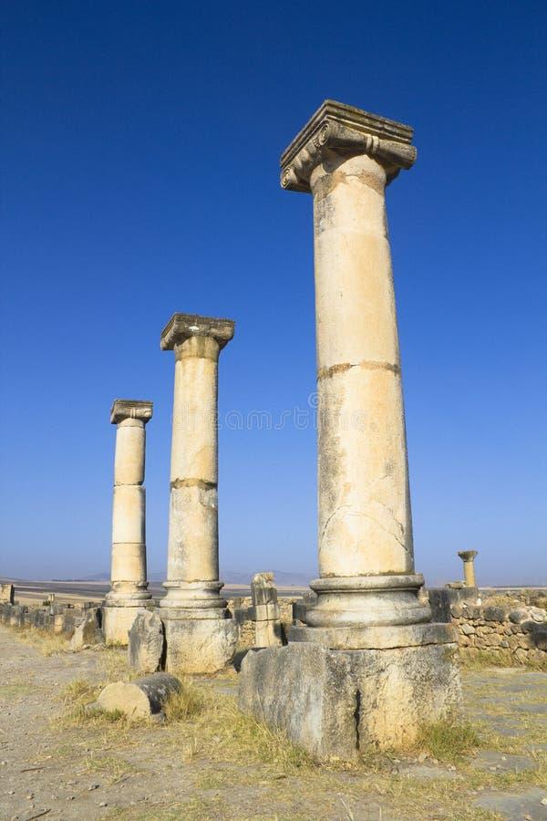 Tempio romano di Volubilis fotografie stock libere da diritti