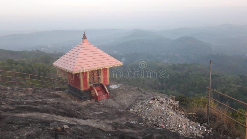 Tempio su una montagna fotografie stock libere da diritti