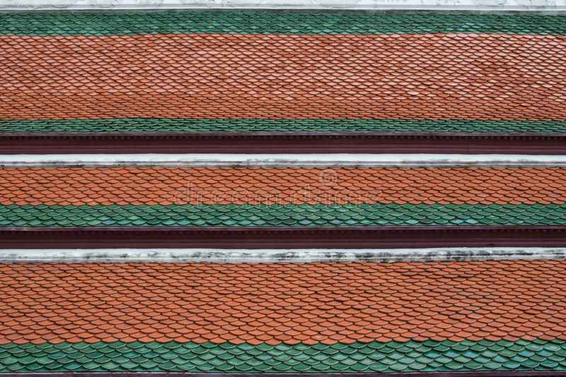 Tempio tailandese del tetto fotografia stock