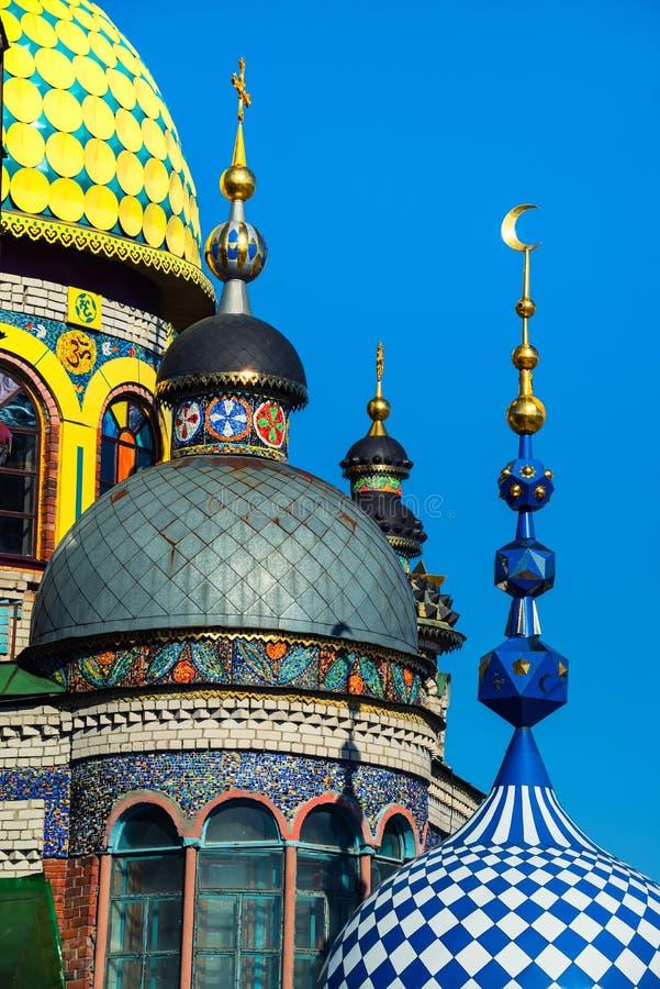 Tempio universale di tutte le religioni a Kazan, Russia fotografia stock