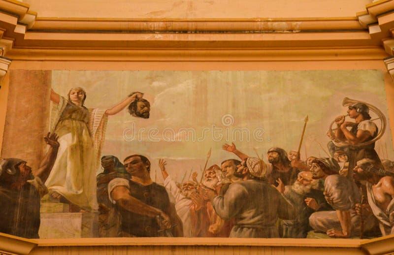 Tempio Votivo di Cristo Re (temple votif du Christ le roi) - Messine, Sicile, Italie image stock