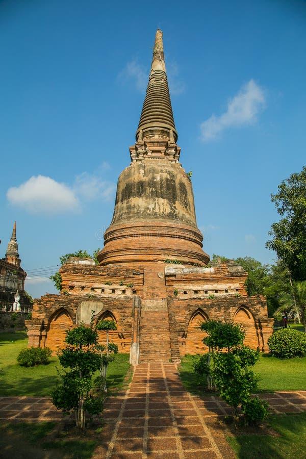 Tempio Wat Yai Chai Mongkhon fotografia stock