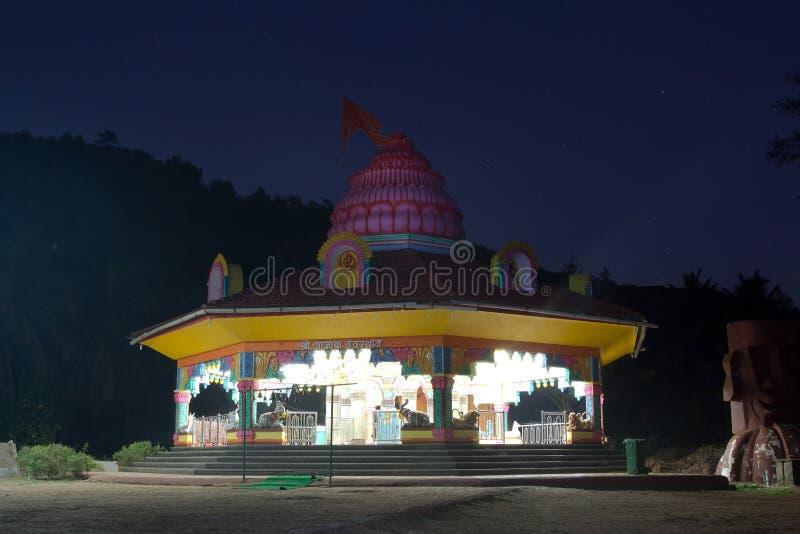 Templ in de nacht royalty-vrije stock foto's