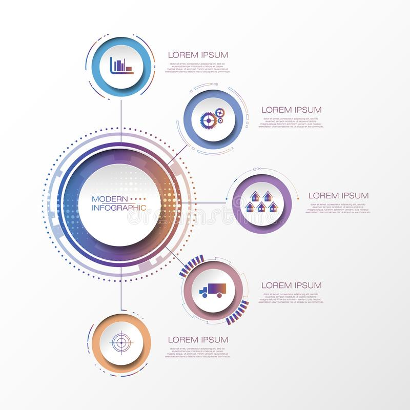 Templa del gráfico de presentación de la conferencia de la información del negocio de Infographic libre illustration
