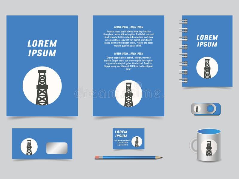 Templa graphique moderne coloré d'identité d'entreprise de vecteur élégant illustration libre de droits