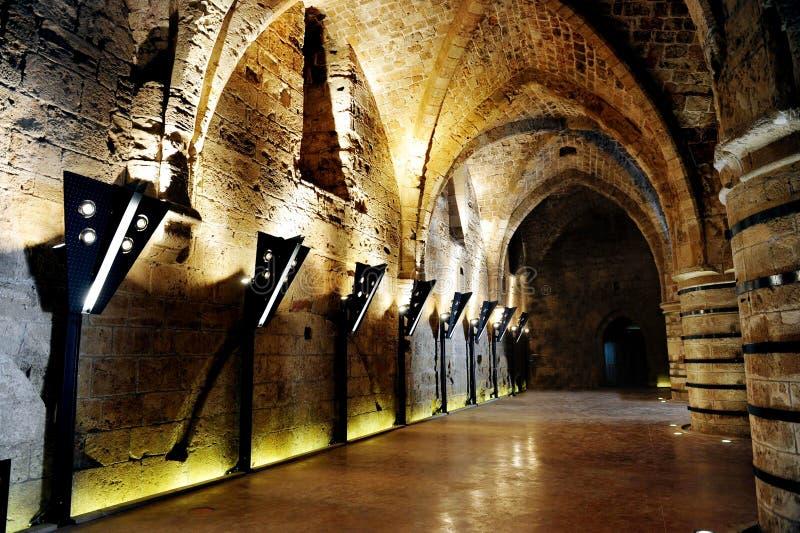 templar城堡的骑士 免版税库存图片