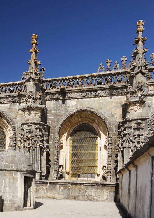 Templar Church. The Templar Church of the Convento do Cristo at Tomar, Portugal stock images