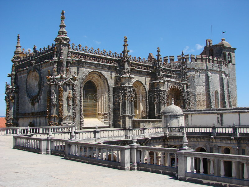 The Templar Church at Tomar. The Templar Church of the Convento do Cristo at Tomar, Portugal. It was founded as head-quarters of the Knights Templar in Portugal royalty free stock images