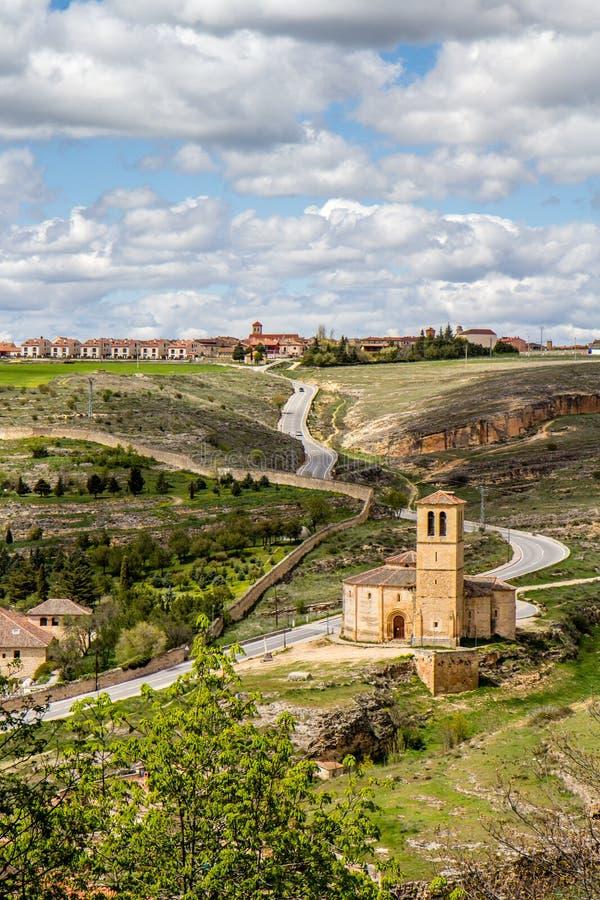 Templar Iglesia Vera Cruz i Segovia, Spanien royaltyfria bilder