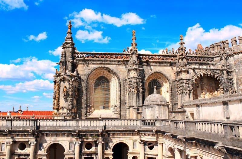 Templar kloster av Kristus i Tomar, Portugal arkivbilder