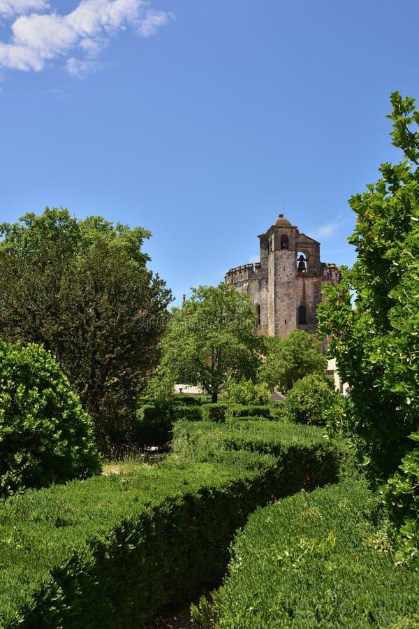 Templar kyrka av kloster av beställningen av Kristus i Tomar Po arkivbild