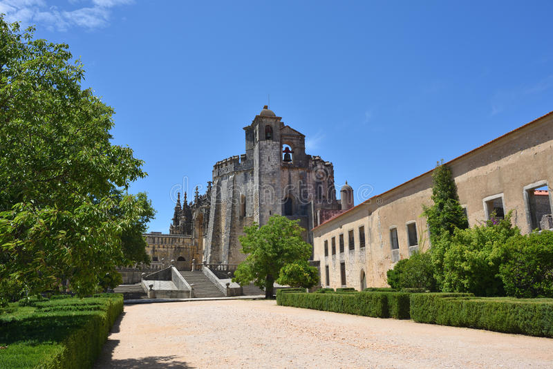 Templar kyrka av kloster av beställningen av Kristus i Tomar Po fotografering för bildbyråer