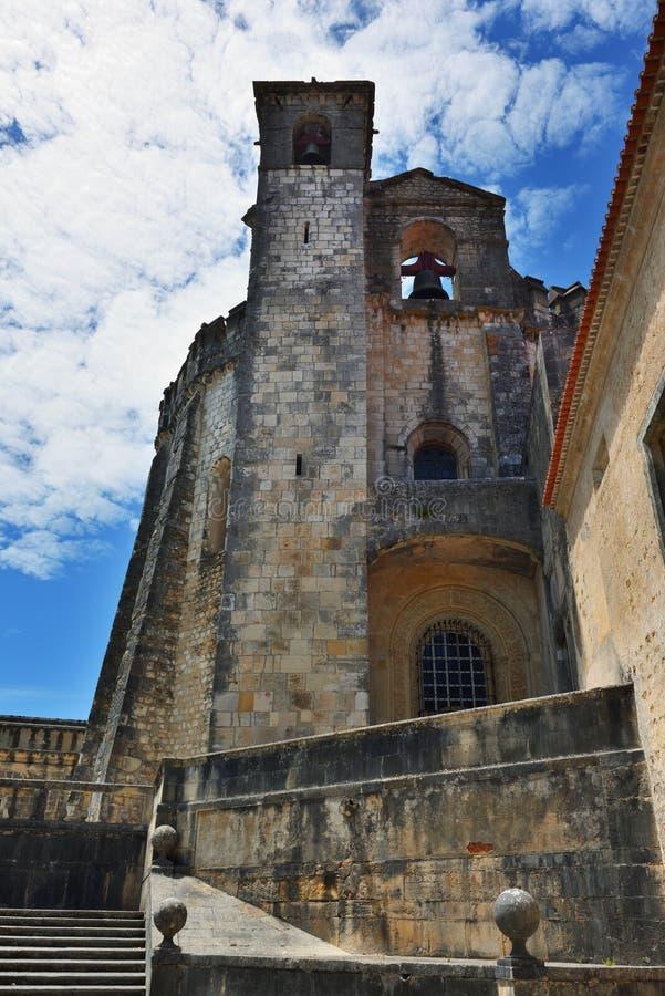 Templar kyrka av kloster av beställningen av Kristus i Tomar Po royaltyfri fotografi