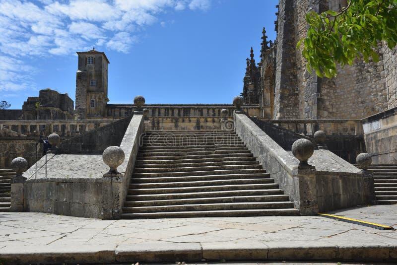 Templar kyrka av kloster av beställningen av Kristus i Tomar Po royaltyfria foton