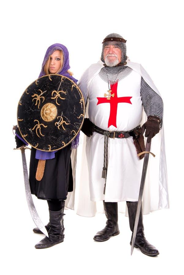 Templar och muselman arkivbild
