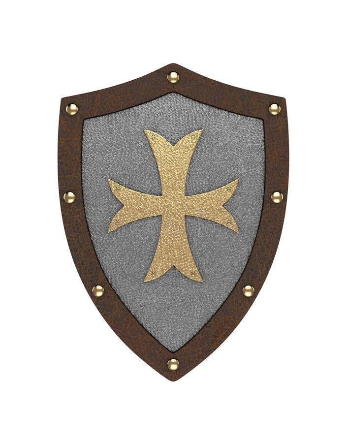 Templar sköld stock illustrationer