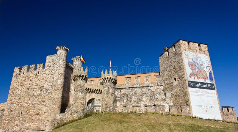 templar slott arkivbild