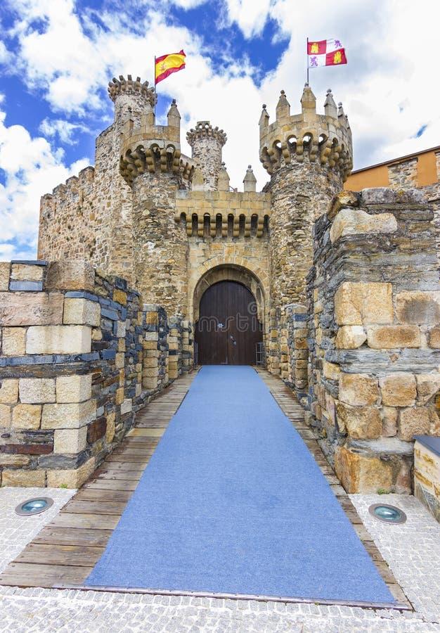 Templar slott royaltyfria bilder