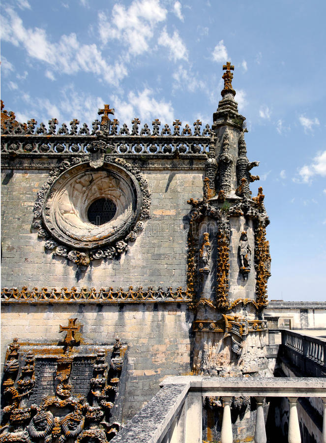 Templar slott i Tomar portugal royaltyfria bilder