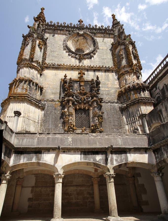 Templar slott i Tomar portugal fotografering för bildbyråer